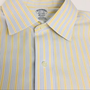 BROOKS BROTHERS NON-IRON Striped Shirt 15.5 - 32
